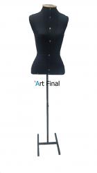 Busto para Costura c/ Pedestal - Preto