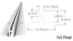 Trilho Cremalheira Slim - Invisível